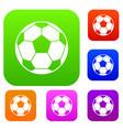 football soccer ball set color collection vector image vector image