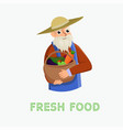 fresh food white background vector image vector image