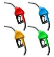 Fuel nozzle set vector image vector image