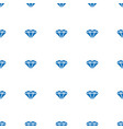 gem icon pattern seamless white background vector image vector image