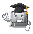graduation button s installed on game character vector image vector image