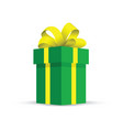 green present gift vector image vector image