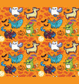 halloween holiday surface pattern with cute vector image