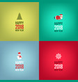 happy new year cards design set of cards banners vector image