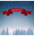 Happy New Year Landscape in Dark Blue Shades vector image vector image