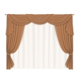 heavy beige curtains vector image vector image