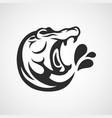 hippopotamus logo icon design vector image vector image