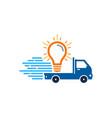 idea delivery logo icon design vector image