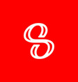 initial letter s or number 8 logo template vector image vector image