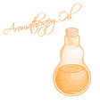 isolated essential oil bottle vector image vector image