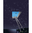 ladder to heaven vector image vector image