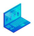 laptop icon isometric style vector image vector image