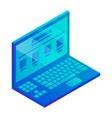 laptop icon isometric style vector image