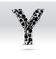 Letter Y formed by inkblots vector image vector image