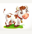 Little cow funny character 3d icon