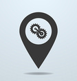 Map pointer with a gears vector image vector image