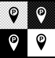 map pointer with car parking icon isolated on vector image