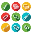 Metallurgy products flat icons collection vector image vector image