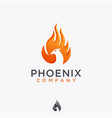 modern abstract fire phoenix logo icon template vector image