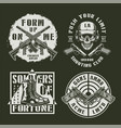 monochrome army and military emblems vector image vector image