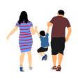mother and father holding hands his son vector image vector image