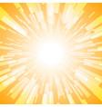 orange burst ray light stripe vector image vector image