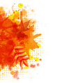 Orange With Blobs Autumn Leafs vector image