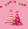 party hats design vector image vector image