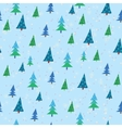 pattern with Christmas trees vector image vector image