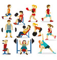 people at the gymvarious sports activities vector image