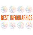pie chart on white background from line for 3 4 5 vector image vector image