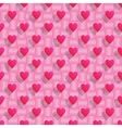 Pink hearts seamless valentine background vector image vector image