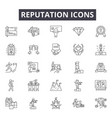 reputation line icons signs set outline vector image vector image