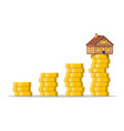 saving money for home vector image vector image