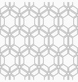 seamless geometric pattern of hexagons vector image vector image