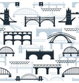 seamless pattern bridge silhouettes vector image vector image