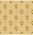 seamless pattern with a cute horned animal - a cow vector image vector image