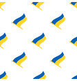 seamless pattern with flags ukraine vector image