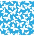 Seamless white flying butterflies pattern vector image vector image