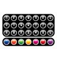 set glossy icons vector image vector image