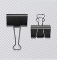 set of realistic document clips isolated on white vector image vector image