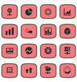 set of simple analysis icons vector image vector image