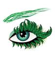 Spring eye vector image vector image