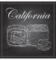 sushi sketch California roll vector image vector image