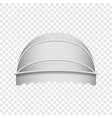 white dome awning mockup realistic style vector image vector image