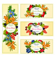 wild berries and fruits banners set vector image vector image