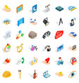work icons set isometric style vector image vector image