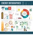 Worldwide clean energy distribution infographics vector image vector image