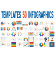 50 templates for infographics for seven positions vector image