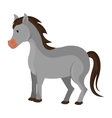 Horse farm animal isolated icon vector image